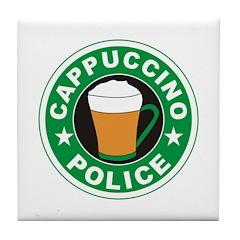 Cappuccino Police Tile Coaster