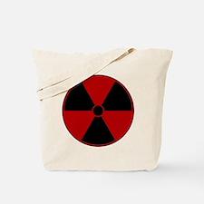 Red Radiation Symbol Tote Bag