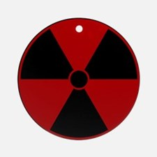 Red Radiation Symbol Ornament (Round)