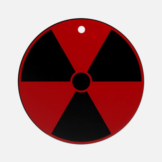 Red Radiation Symbol Ornament (Round)