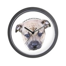 Staffordshire Bull Terrier Puppy Wall Clock