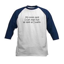 Funny My Mom Said Kids Baseball Jersey