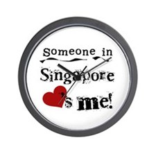Singapore Loves Me Wall Clock
