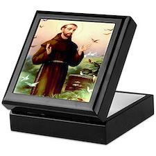 St Francis & Birds Keepsake Box