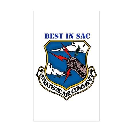 SAC - Strategic Air Command Rectangle Sticker