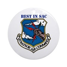 SAC - Strategic Air Command Ornament (Round)