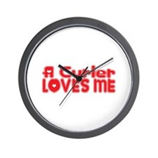 A Curler Loves Me Wall Clock