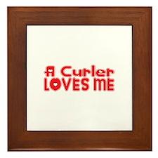 A Curler Loves Me Framed Tile