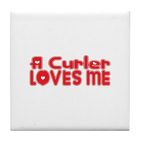 A Curler Loves Me Tile Coaster