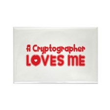 A Cryptographer Loves Me Rectangle Magnet