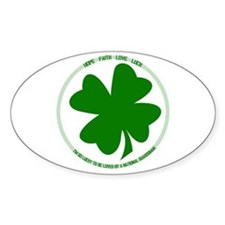 Lucky to be Loved (Guardsman) Oval Decal