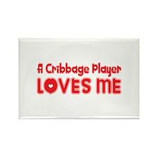 A Cribbage Player Loves Me Rectangle Magnet