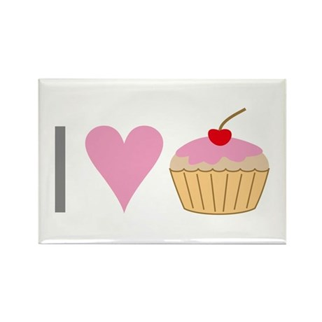 I heart cupcakes Rectangle Magnet