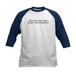 Sarcastic and Funny Kids Navy Baseball Jersey