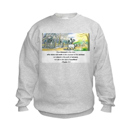 Psalm 1:1 Kids Sweatshirt