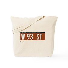 93rd Street in NY Tote Bag