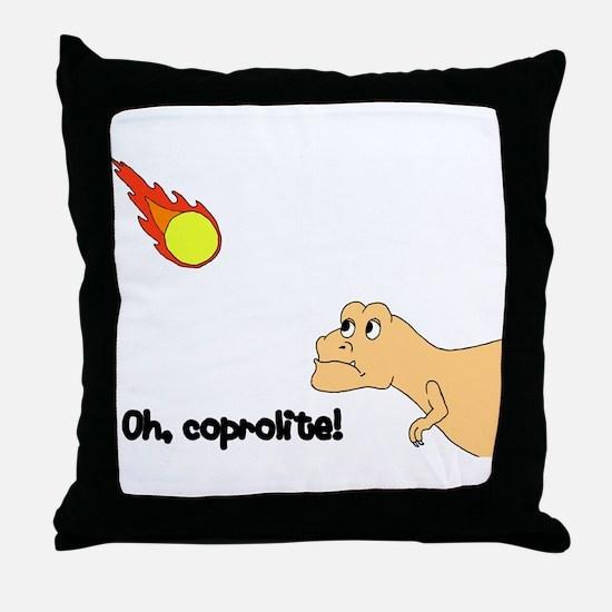 coprolite Throw Pillow