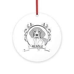 Beagle Ornament (Round)