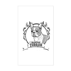 Boston Terrier Rectangle Decal