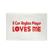 A Cor Anglais Player Loves Me Rectangle Magnet