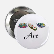 """Sushi is Art 2.25"""" Button"""