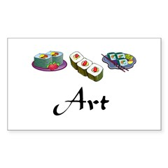 Sushi is Art Rectangle Decal