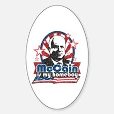 McCain is my Homeboy Oval Decal