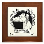 Greyhound Framed Tile