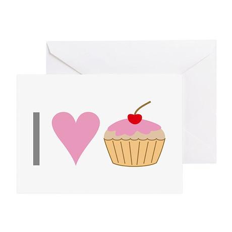 I heart cupcakes Greeting Card (blank inside)