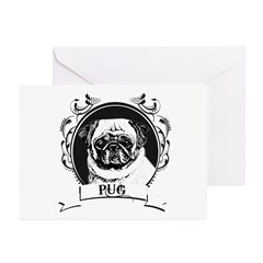 Pug Greeting Cards (Pk of 20)
