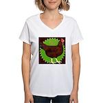 Rhode Island Red Hen2 Women's V-Neck T-Shirt