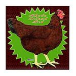 Rhode Island Red Hen2 Tile Coaster