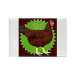 Rhode Island Red Hen2 Rectangle Magnet (100 pack)