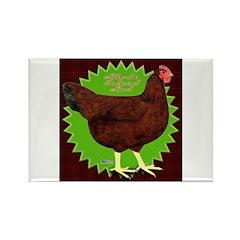 Rhode Island Red Hen2 Rectangle Magnet