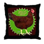 Rhode Island Red Hen2 Throw Pillow