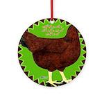 Rhode Island Red Hen2 Ornament (Round)