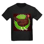 Rhode Island Red Hen2 Kids Dark T-Shirt