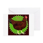 Rhode Island Red Hen2 Greeting Cards (Pk of 20)