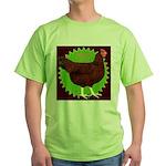 Rhode Island Red Hen2 Green T-Shirt