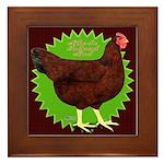 Rhode Island Red Hen2 Framed Tile