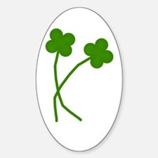 4-Leaf Clovers Oval Decal