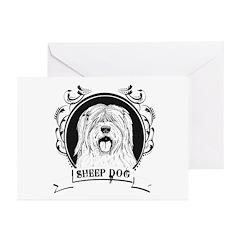 Sheep dog Greeting Cards (Pk of 20)