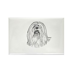 Lhasa Apso Rectangle Magnet