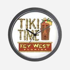 Key West Tiki Time - Wall Clock