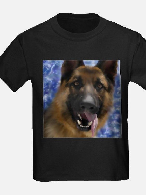 German shepherd dog face t shirts shirts tees custom for Custom dog face t shirt