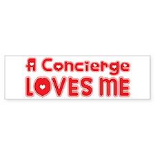 A Concierge Loves Me Bumper Bumper Sticker