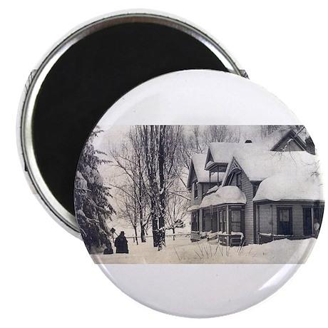 "Farm, snow 2.25"" Magnet (10 pack)"