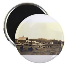 "Barn, early photo,view II 2.25"" Magnet (10 pack)"
