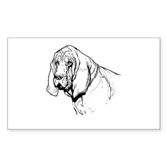 Bloodhound Rectangle Decal