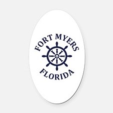 Cute Ft myers vacation Oval Car Magnet